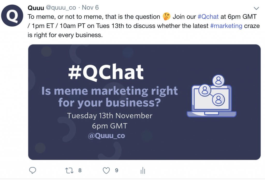Quuu's Twitter chat