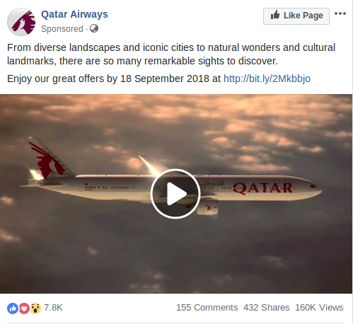 Qatar Airways ad