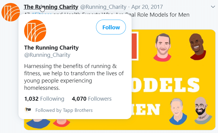 A screenshot of a Twitter user from Quuu sharing a Quuu Promote user's content, and they have over four thousand followers.